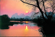 Sunset at Peach Blossom River