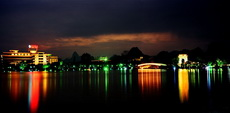 Guilin Evening Photo, Ronghu Lake