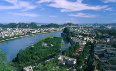 Bird's-eye-view of Guilin City