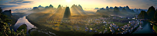 Green Lotus Peak, the best Yangshuo sunrise photo shoot place