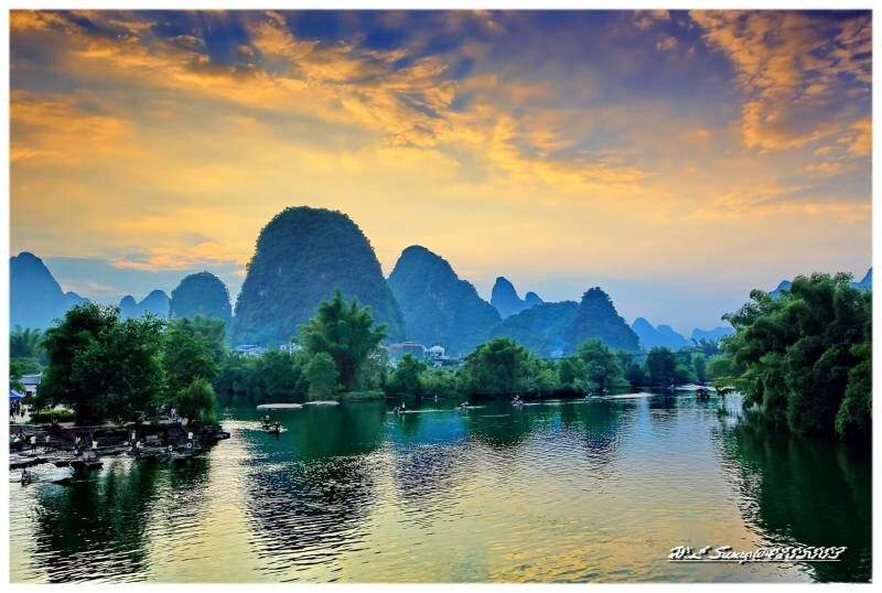 Yangshuo Sunset, Yulong River