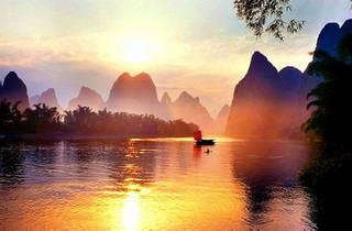 Lijiang River Sunrise, Yellow Cloth Shoal