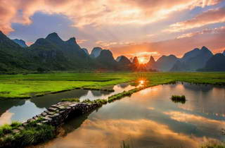 Guilin Sunrise, Tianxin Village