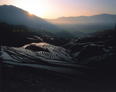 Sunrise in Longji