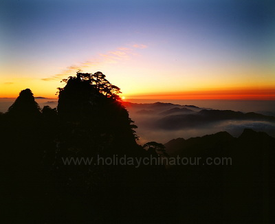 Sunset View on Mt. Huangshan